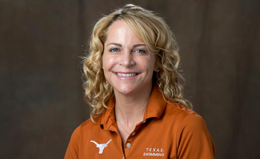 Head coach Carol Capitani of the University of Texas