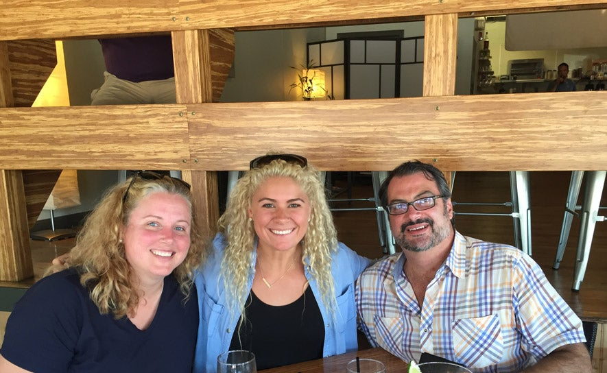 Chuck and Christie Batchelor with Elizabeth Beisel