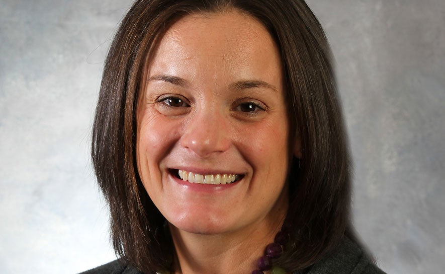 A photo of USA Swimming National Team Managing Director Lindsay Mintenko.