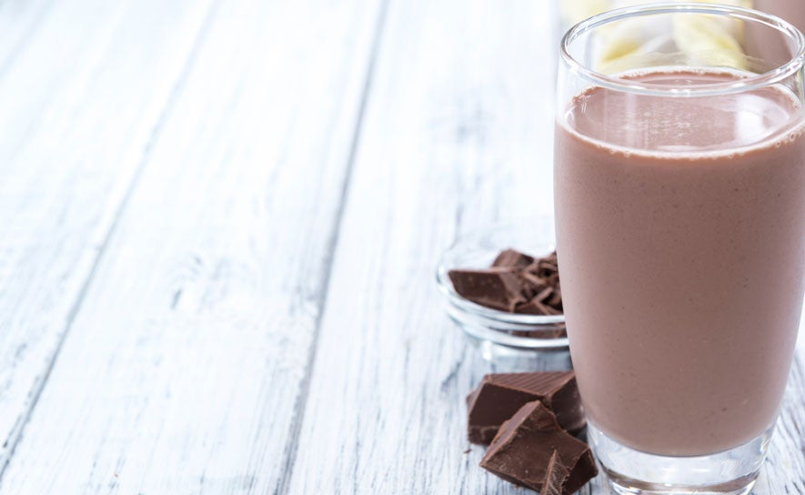 An illustration of chocolate milk.