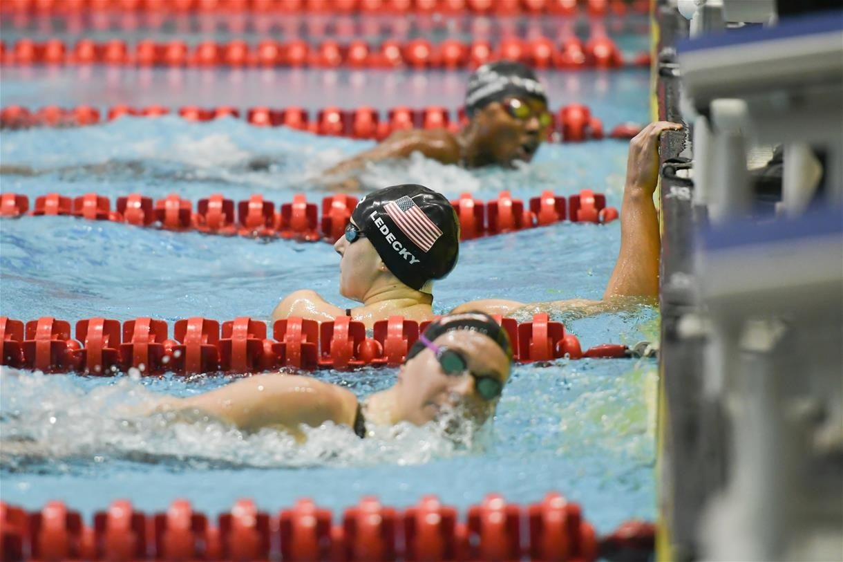 Katie Ledecky Wins Twice at TYR Pro Swim Series at Knoxville