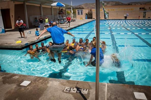 Matt Splash at Swim 1922 Clinic