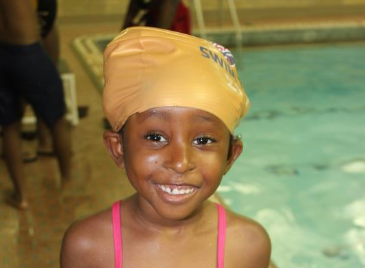Smiling Swimmer at Jamaica Queens