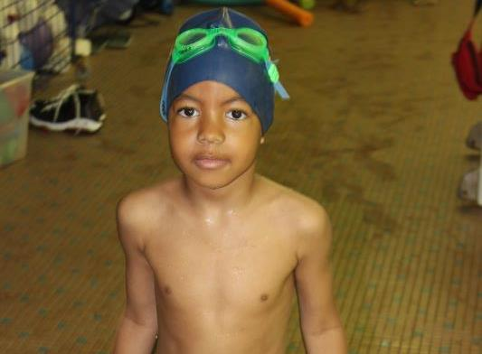 Young Swimmer at Jamaica Queens