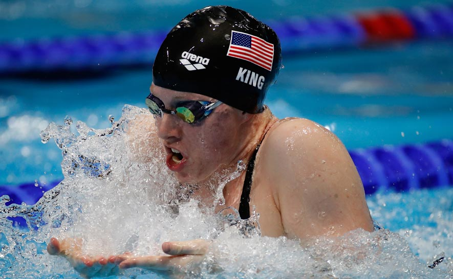 Lilly King competes in the 200m breaststroke at the 2016 FINA World Championships (25m)