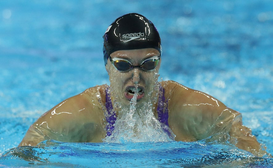 Kathleen Baker competes during the 14th FINA Short Course World Championships