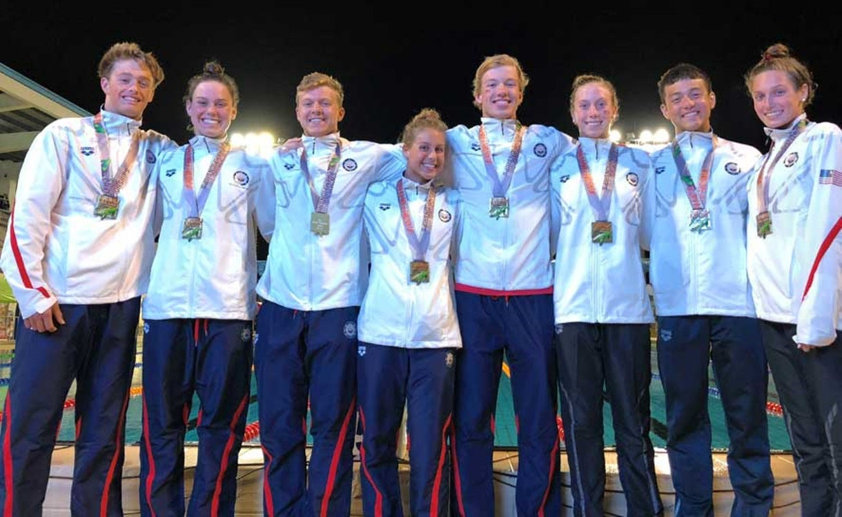 Stadden Sets Meet Record in 200m back, U.S. Wins 13 Medals on Day 3 of Jr. Pan Pacs
