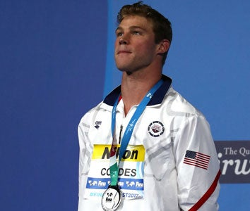 Kevin Cordes on the medal stand.