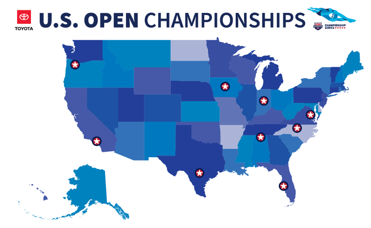 USA Swimming Unveils Nine Sites for the 2020 Toyota U.S. Open