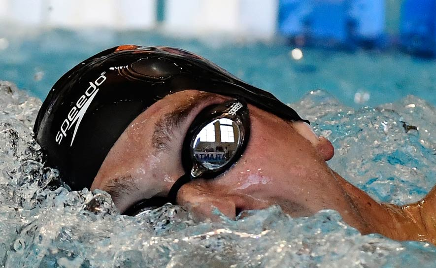 Clark Smith competes during the Arena Pro Swim Series at Atlanta
