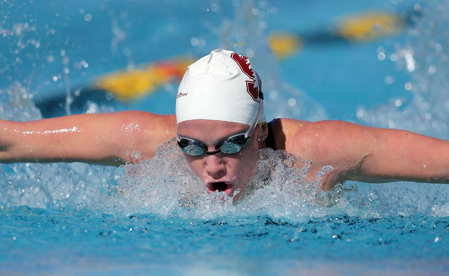 Ella Eastin competes during the Arena Pro Swim Series at Mesa