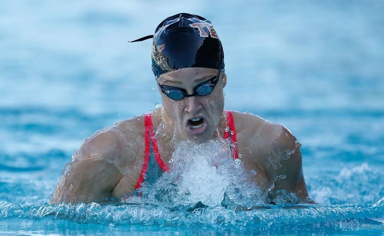 Madisyn Cox competes during the arena Pro Swim Series at Santa Clara