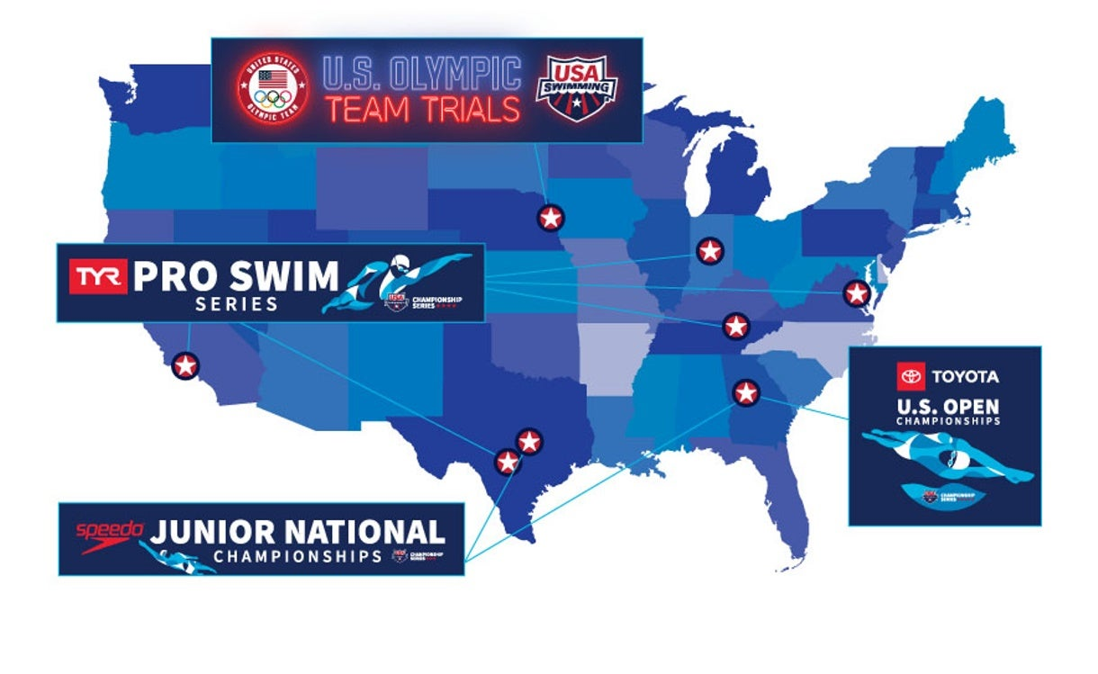 USA Swimming Announces Targeted Event Schedule