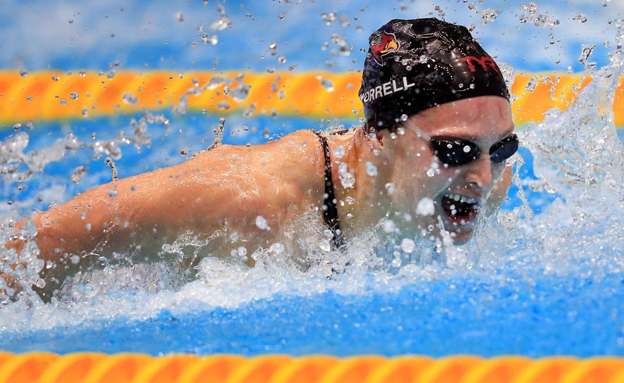 Kelsi Worrell competes at the Phillips 66 National Championships in Indianapolis