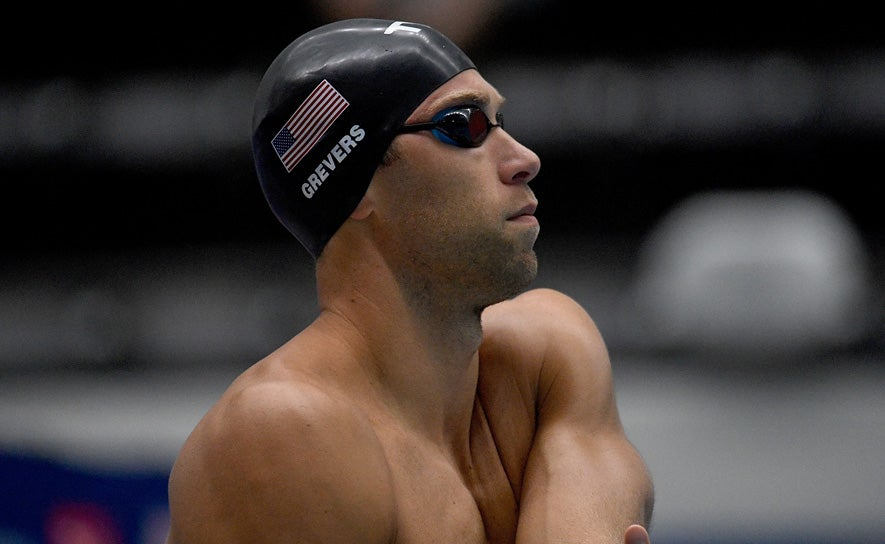Matt Grevers prepares to compete during the TYR Pro Swim Series at Indianapolis