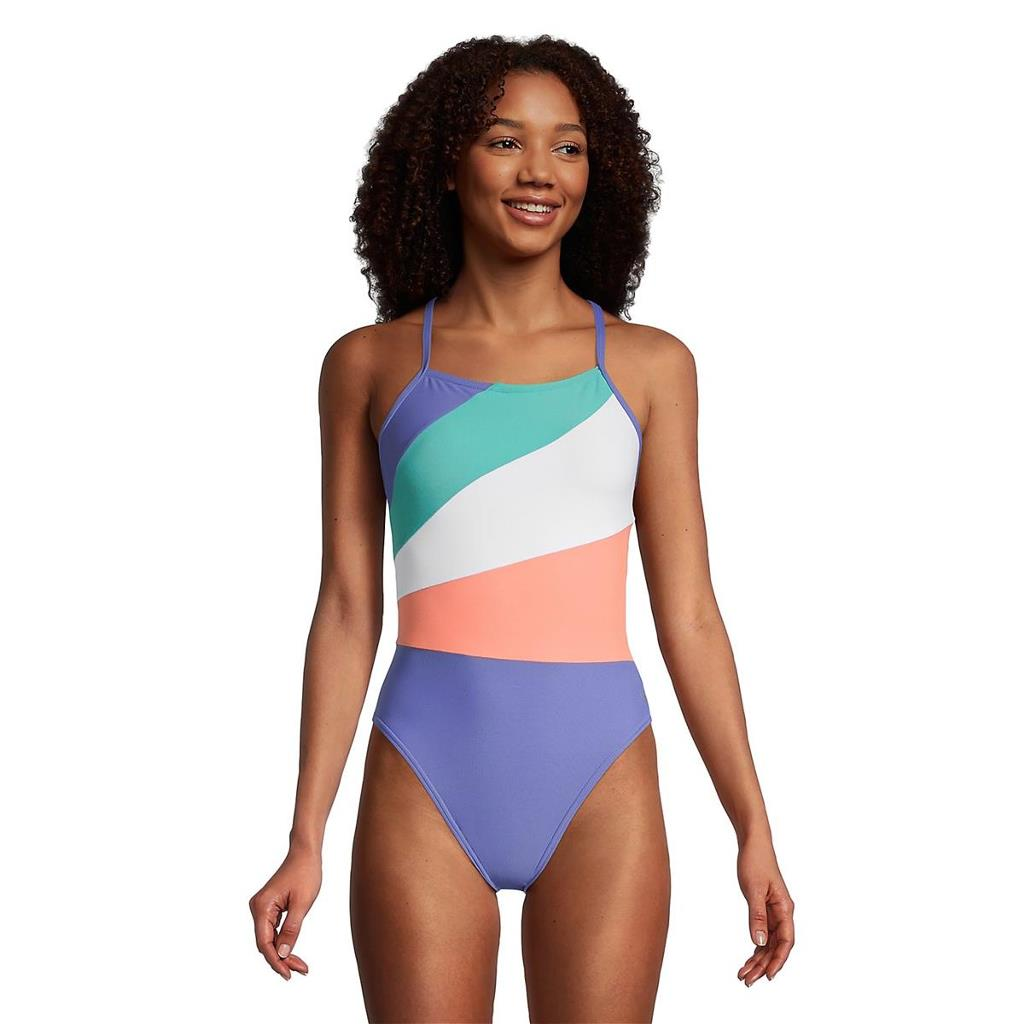 Bring on the vibes. Show off your personal style in this colorful swimsuit. A cheeky fit and open-back silhouette guarantee better tan lines and make the one-piece a head-turning choice, while minimal yet functional straps finish the look. And don't worry, this suit is made to hold its shape and color through endless summers and tough practices.|https://www.speedousa.com/radiating-splice-onepiece-style-7719219 |68.00|itw7