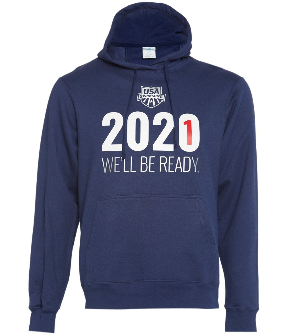 This hoodie is available in navy or red is the most popular item in the 2021 We Will Be Ready Collection, providing warmth and comfort in a relaxed fit and casual style! Proceeds from the sale of this product will go to support U.S. National Team athletes.|https://www.swimoutlet.com/p/usa-swimming-unisex-2021-we-will-be-ready-hooded-sweatshirt-8197127/?color=9343|0|stt1