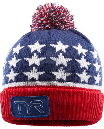 	Regardless of the sport, keep warm before and after your workouts in the TYR Unisex USA Beanie Hat.  With heavyweight breathability, this hat provides a fleece lined construction for warmth in the coldest of temperatures. Lying close to the head for a sleek fit, the beanie is created with a ultra soft fold-over cuff, with a 100% Acrylic fabrication.|https://www.tyr.com/shop/tyr-unisex-usa-beanie-hat.html|29.99|cal4
