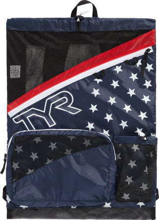 The TYR Elite Team Mesh Backpack is the perfect choice for hauling swim and workout gear. This backpack features mesh venting for increased dry time and drainage. The adjustable, ventilated padded should straps allow for easy transport and versatile carrying options. Includes large secondary compartment and gear loops for additional storage.  |https://www.tyr.com/shop/tyr-elite-team-mesh-backpack.html|29.99|ftf7