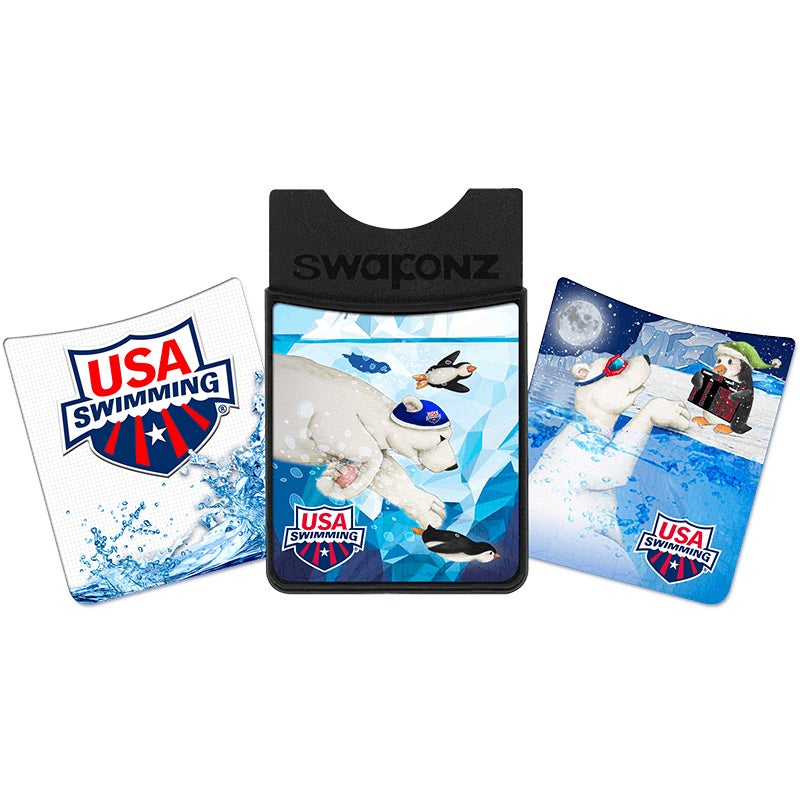 Showcase your passion for USA Swimming. Enjoy and swap fun images right on your Wallet. Perfect Gift for every Swimmer and Swim Lover. Like getting 3 Wallets for the price of 1.|https://swaponz.com/products/usaswinter|8.99|ftf4