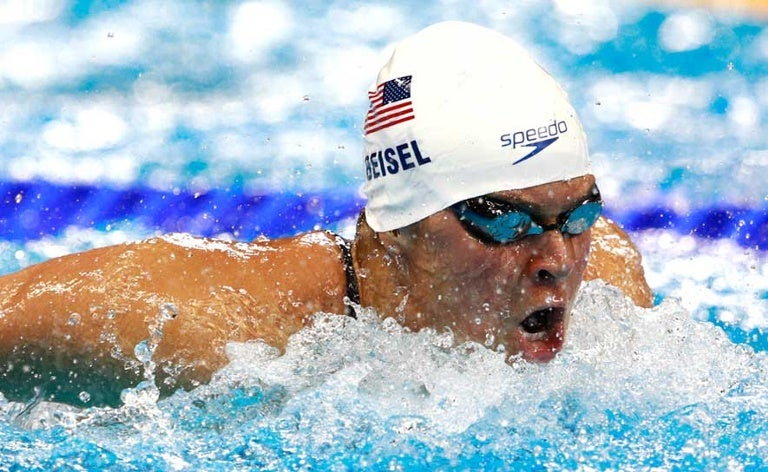 Elizabeth Beisel competes in the prelims of the 400m IM at the 2016 Olympic Games in Rio.