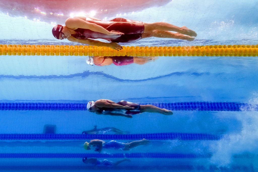 Breaststroke pullout with Katie Meili