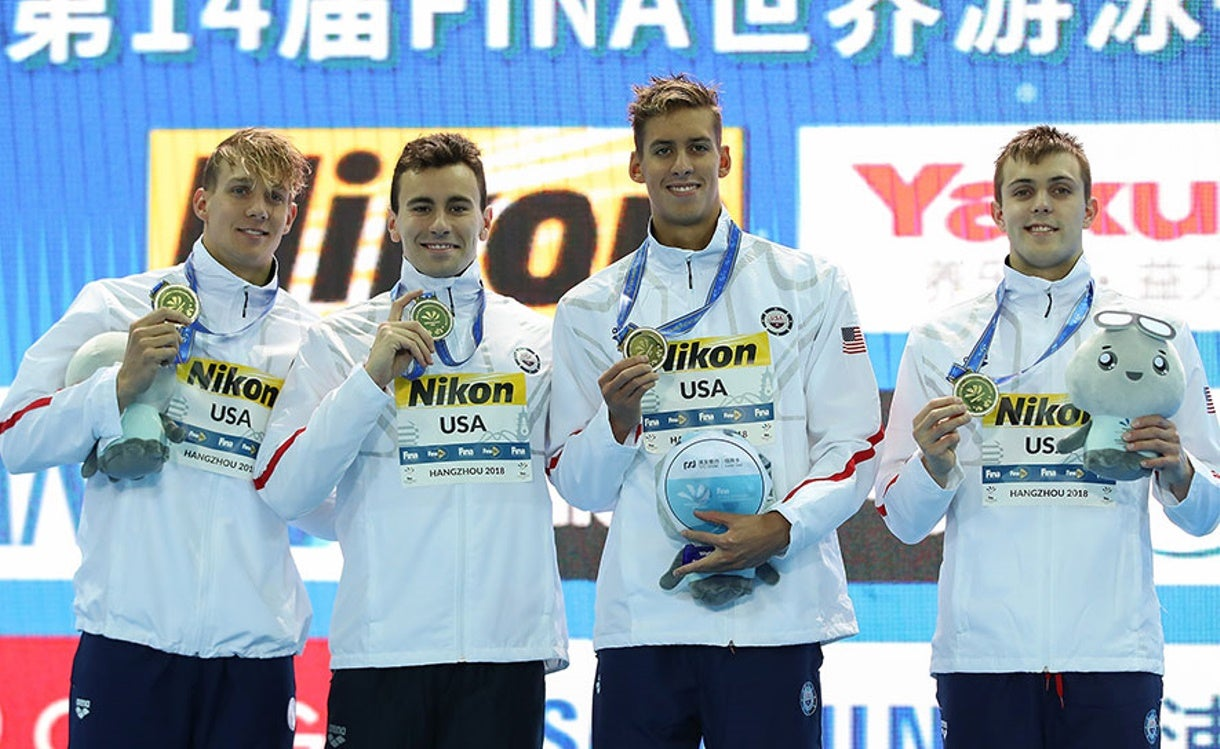 Team USA Opens FINA World Championships (25m) With Five Medals, Two Gold