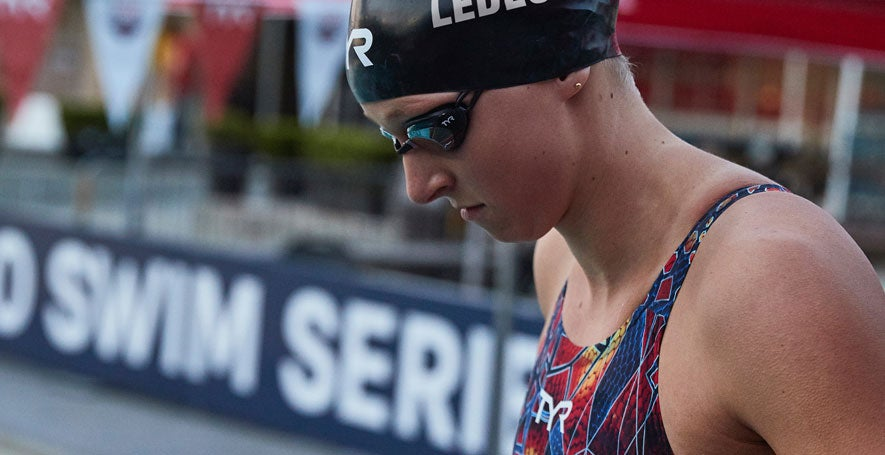Katie Ledecky is now sponsored by TYR.