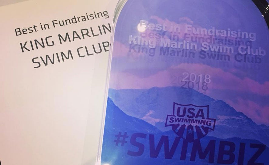 SwimBiz Award winners for fundraising.