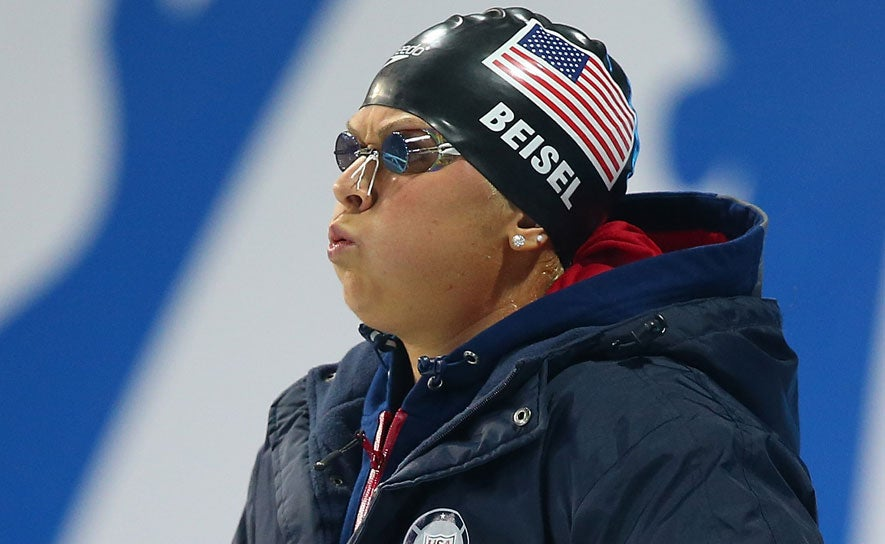 Elizabeth Beisel before a race.